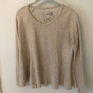 Free People Small Waffle Long Sleeve Small